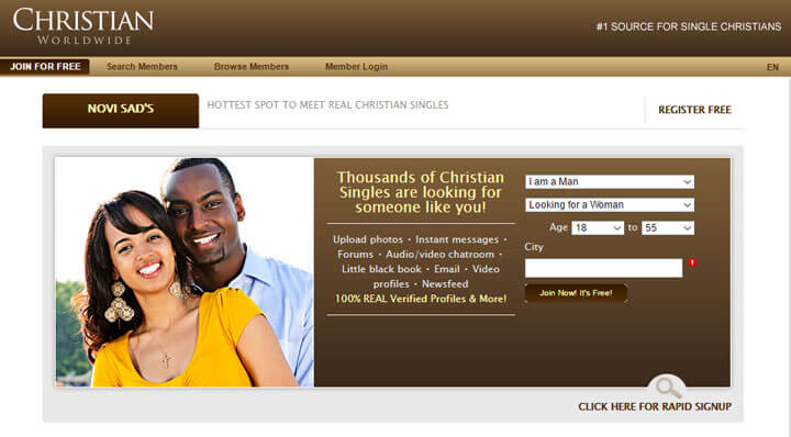 Most popular christian dating sites