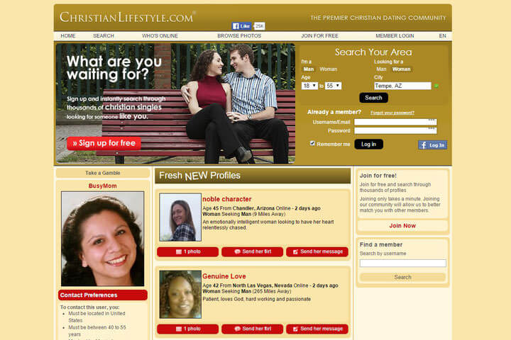 Christian Lifestyle homepage