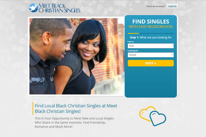 Meet Black Christian Singles homepage