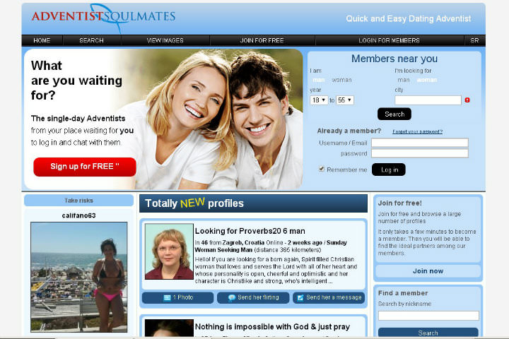 Adventist Soulmates homepage