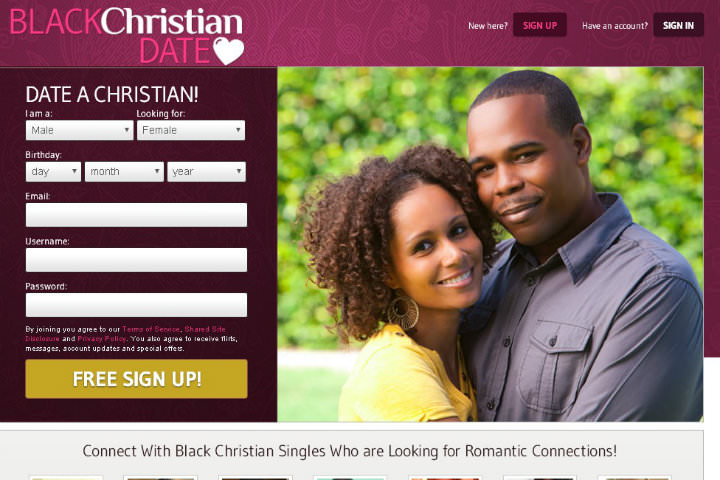 Black Christian Date homepage