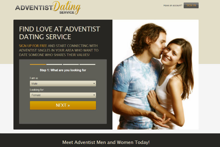 Adventist Dating Service homepage