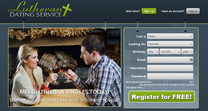 Lutheran Dating Service homepage
