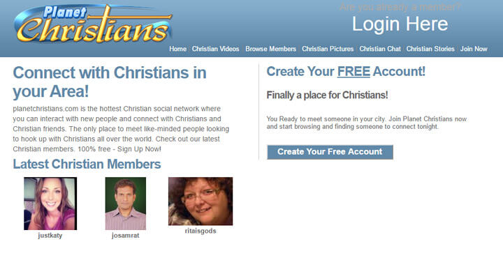 planet christians homepage