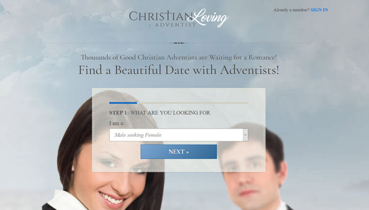 Adventist Christian Loving printscreen homepage