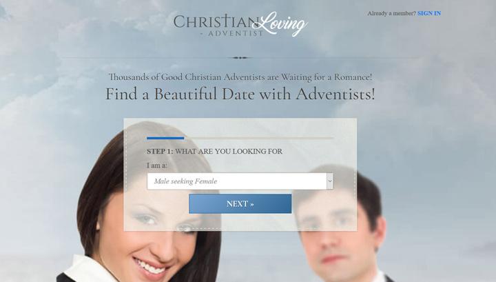 Adventist Christian Loving printscreen homepage