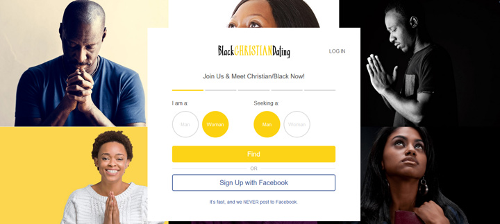 Black Christian Dating printscreen homepage