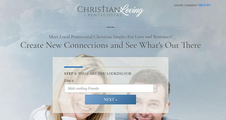 Pentecostal Christian Loving printscreen homepage