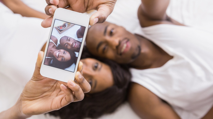 black christian chat couple taka a selfie