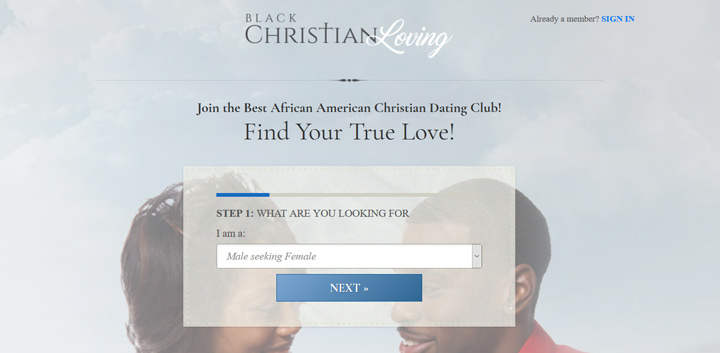 black christian loving printscreen homepage