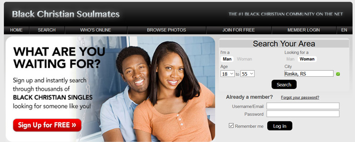 black-christian soulmates printscreen homepage