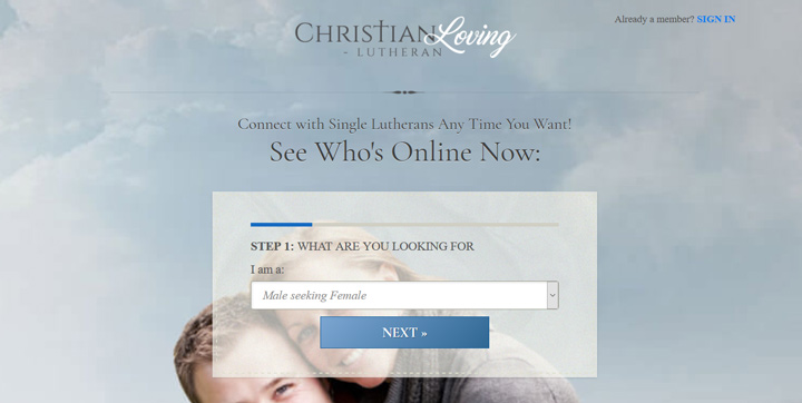 lutheran christian loving homepage printscreen